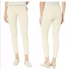 HUDSON TALLY MID-RISE FAWN SKINNY CROPPED JEANS